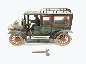 Large size 1909 40cms  Carette tinplate limousine in original as found condition