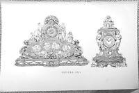 Clocks, 1851, Book Illustration (Print), 1934