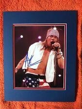 Axl Rose, Guns n Roses, autographed 8x10 photo. Rock Superstar! Matted.  COA!