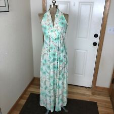 Vintage Allegro Mint Green Paisley Floral Dress