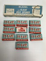 Vintage Box of Flash Mfg. Co. Blades for Flash Box Opener – 10 Packs of 5