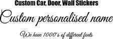 2 x Personalised Custom Names / Words Car Bike Van  Decals vinyl Stickers Wall