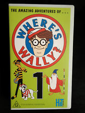 THE AMAZING ADVENTURES OF WHERE'S WALLY? ~ VOLUME ONE -1 ~ RARE VHS VIDEO