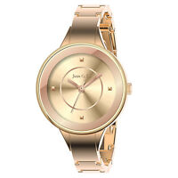 June & Ed Women's Wrist Watch Quartz Rose Gold Bracelet