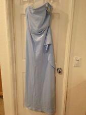 Long Evening Dress Polka Dot Light Blue Women's Formal Strapless XXL 2 X Large