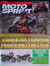 Motosprint 31 1991 Aprilia e Cagiva all'attacco. Novità Suzuki Katana GSX [Q77]