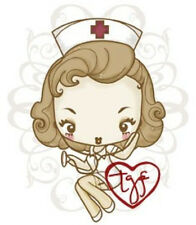 CHEEKY NURSE-The Greeting Farm Cling Mount Rubber Stamp-Stamping Craft-RETIRED