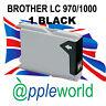 1 Noir non-Oem Encre Cartouche Alternative Pour Brother LC970/LC1000