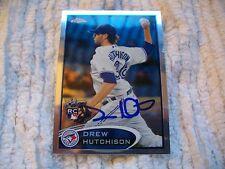 DREW HUTCHISON autograph ROOKIE baseball card TORONTO BLUE JAYS Prospect Auto