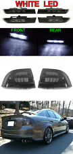 6PCS COMBO Black Smoke Tail Light + White LED Side Marker For 2004-2008 Acura TL