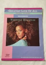 THE GREATEST LOVE Vintage Sheet Music 1977 WHITNEY HOUSTON Guitar Song Pop