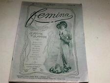 """ANCIENNE REVUE """" FEMINA """" N° 19   ANNEE 1901"""