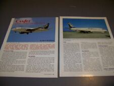 HISTORY..CANJET AIRLINES HISTORY..HISTORY/PHOTOS/DETAILS..RARE! (363T)