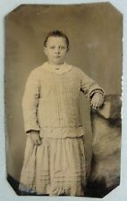 FERROTYPE PHOTO Enfant jeune fille F719