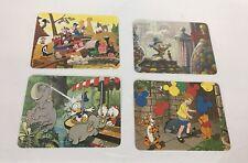 Lot of 4 Disney PostCards 1987 22 Cent Stamp Unused Disneyland Station Pooh Rare