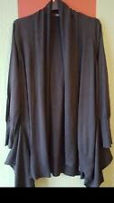 Size 8 Waterfall Cardigan with extra panels Charcoal Grey M&S Winter Shawl neck
