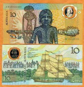 Australia, $10, ND (1988), Polymer, P-49b, AB-Prefix, UNC > Commemorative