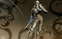 Framed Print - Warrior Princess in Full Armour with Sword (Picture Poster Art)