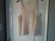womens George lace top size 20-22 cream