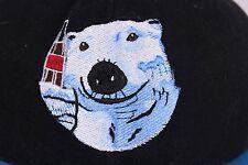 Coca Cola Polar Bear Black Blue Adjustable Snapback Ball Cap Trucker Hat w Tags