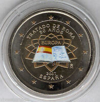 España 2 Euros 2007 @@ Tratado de Roma @@ ESMALTADA @@ coloreada @@ Nº 2 A @@