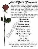 For More Romance Real Wicca Book of Shadows Pages Pagan Witchcraft Love Spell