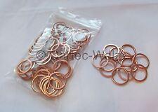 50 piezas anillos de Cobre Junta CU 17x21x1, 5mm DIN 7603 Formulario A
