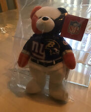 New listing 2001 NFL TEAM BEANS AUTHENTIC NY GIANTS BALTIMORE RAVENS SUPER BOWL BEAR NWT