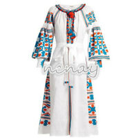 Fashion Womens Bohemia Vita Kin bohemia eagle skirt embroidery Beach Long Dress