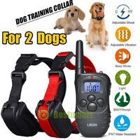 2020 Newest Remote Dog Training Collar Waterproof 1000 Yard LCD Pet Dog Shock A+