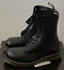 New! Dr. Martens 1919 Mid Calf Black Leather Boots Men 10.5 US/Women 11.5 US