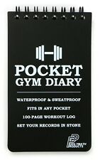 POCKET GYM DIARY Workout Journal Exercise Fitness Weight Training Notes Logbook