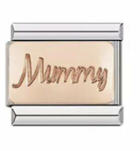 Mummy Rose gold charm -Charm-Fits Nomination- NEW in  Pouch -RG100