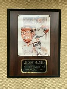 """Mickey Mantle """"The Mick""""  #7 engraved photo 7"""" x 9"""" plaque"""