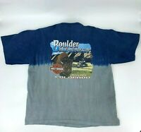 Boulder Harley Davidson 2006 T-Shirt Men's Size 2XL Colorblock Short Sleeve Tee