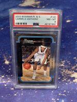 2003 Bowman R&S #140 - Carmelo Anthony - Rookie - PSA 8- NM-MINT