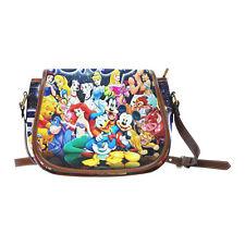 Mermaid Mickey Mouse Snow White Women Saddle Bag Crossbody Shoulder Bag Purse