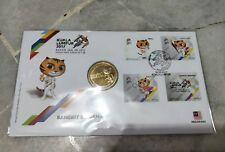 Sea Games MALAYSIA KL 2017 Sukan ASEAN 4v stamps set FDC & Nordic Gold Coin