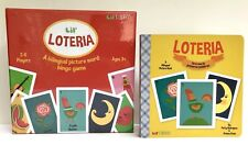Lil' Loteria First Words book + picture word Bingo Game by Patty Rodriguez, set
