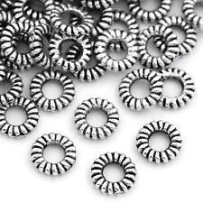 "500PCs Closed Jump HQ Rings Stripe Silver Tone 5mm( 2/8"") Dia."