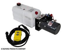 BUYERS PU319LRA 3-Way DC Power Unit Electric Controls Horizontal 1.50 Gal Poly