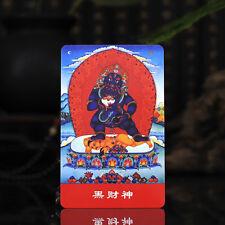 Tibet Tibetan Buddhism  Exquisite painting Amulet thangka Black Jambhala