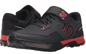 Five Ten 5.10 Shoe Kestrel Lace Mens Mountain Bike Shoe Black and red Size 12