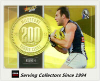 2015 AFL Champions Milestone Holofoil Card MG18 Travis Cloke (Coll'wood)