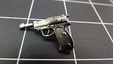 "BRAND NEW Lapel Pin P38 Pewter PISTOL GUN 1 1/8"" LIFETIME GUARANTEE"