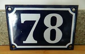 AUTHENTIC FRENCH ENAMEL HOUSE / DOOR NUMBER  *78