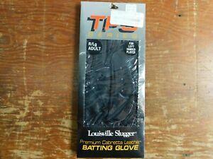 Louisville Slugger TPS Premium Black Leather Batting Glove Large Right Hand NEW