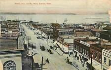 Washington, WA, Everett, Hewitt Ave looking West 1907 Postcard