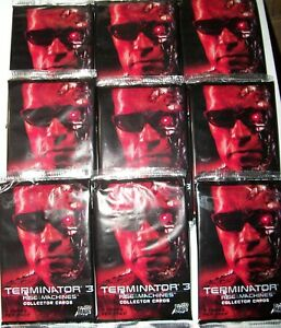 2003 Comic Images Terminator 3: Rise of the Machines sealed 9 pack lot