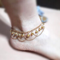 Tassel Bells Chain Anklets for Beach Playing Fashion Gold Chain Anklet Jewelry